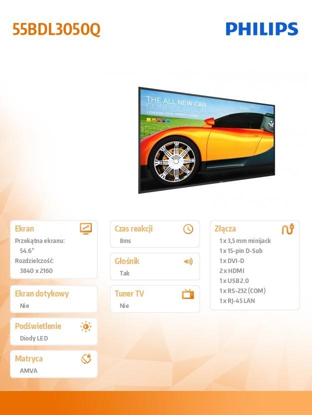 Dis Public 55 Philips 55BDL3050Q Q Line LED Televizors