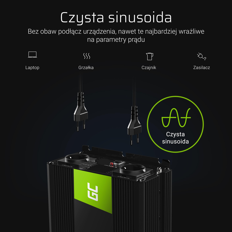 Green Cell® 24V to 230V converter Pure 3000W sine wave Strāvas pārveidotājs, Power Inverter