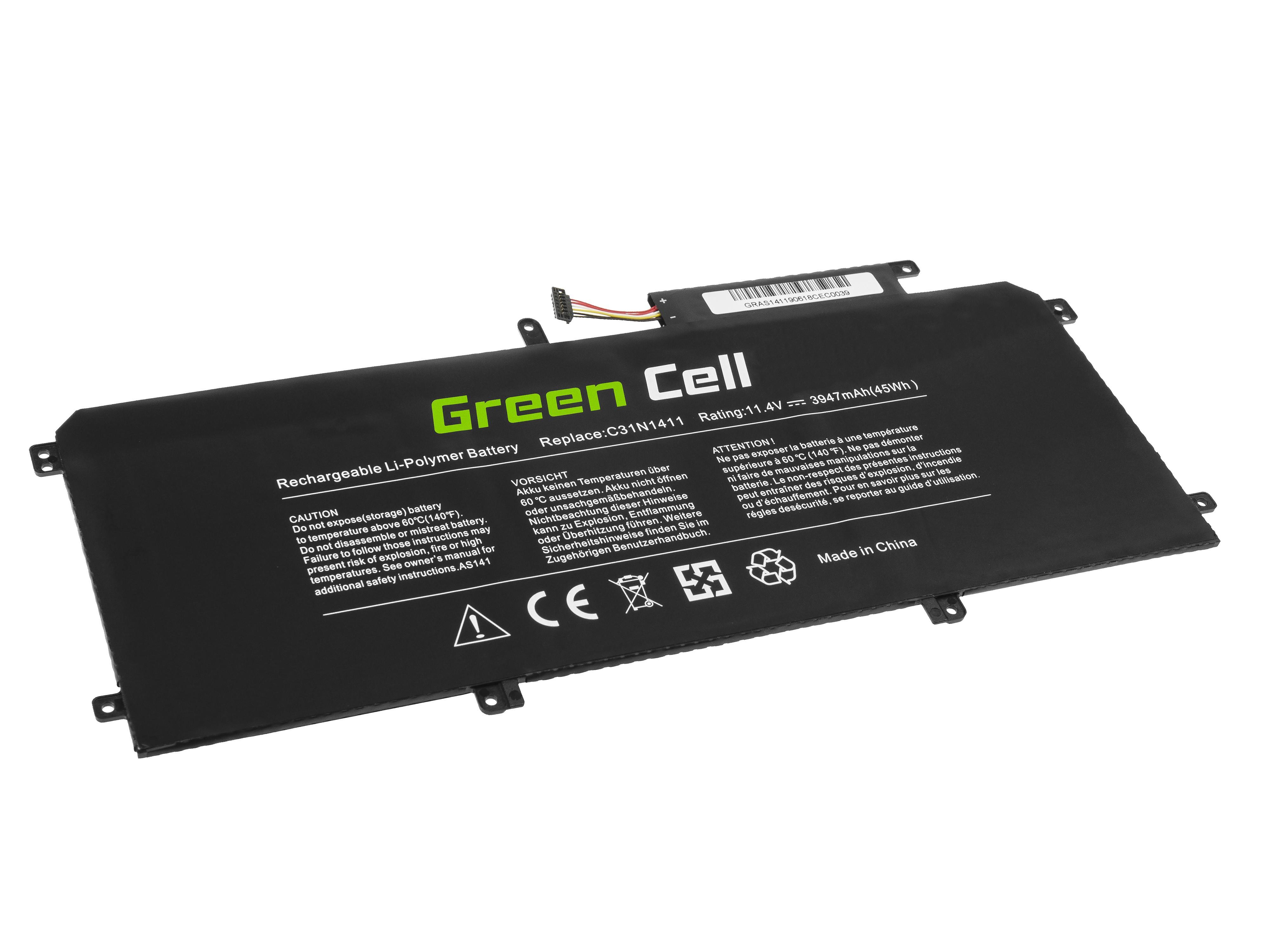 Green Cell Battery C31N1411 for Asus ZenBook UX305C UX305CA UX305F UX305FA akumulators, baterija portatīvajiem datoriem