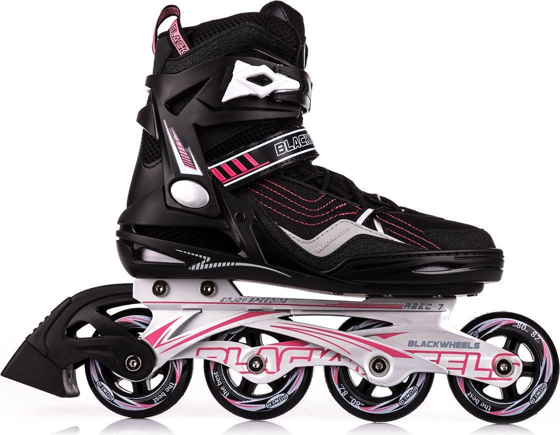 Blackwheels Rollerblades Race black and pink size 37 Skrituļslidas