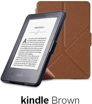 Case Cover Origami Case Kindle Paperwhite 1/2/3 - Brown planšetdatora soma