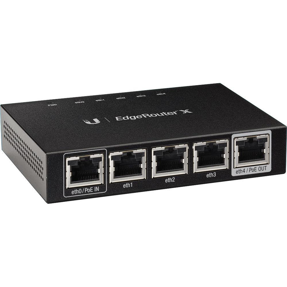 Ubiquiti EdgeRouter ER-X  5 Gigabit RJ45 ports, 1x24V Passive PoE Passthrough WiFi Rūteris