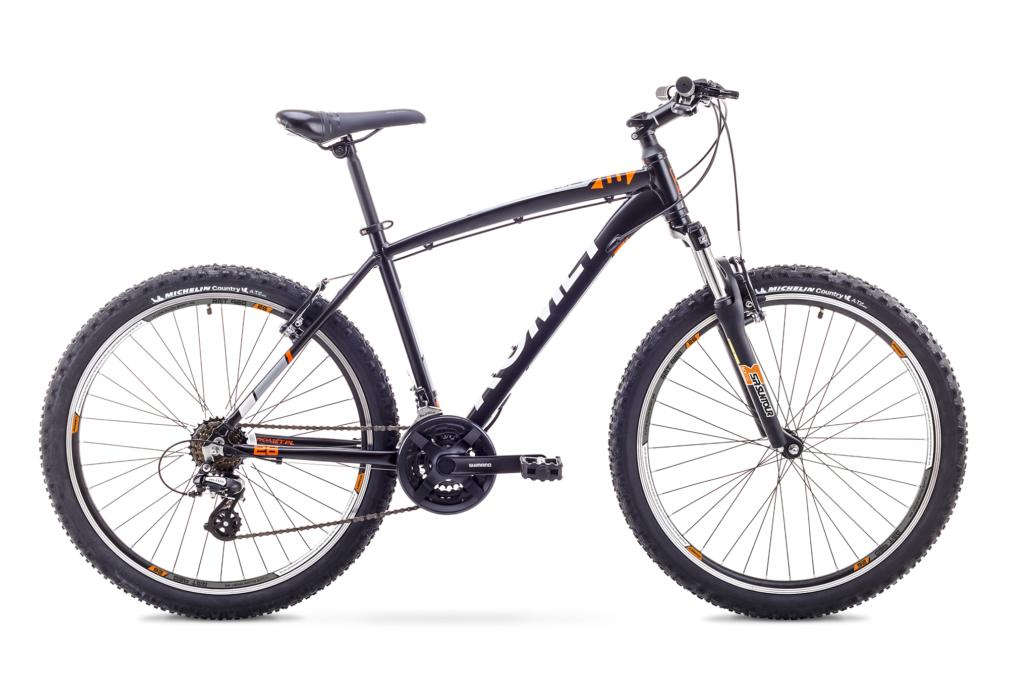 ROMET RAMBLER 26 3 (AR) 1826768 20L MEL/ORA VELOSIPĒDS kalnu velosipēds MTB
