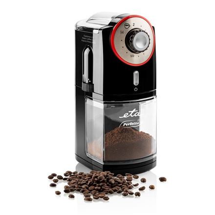 ETA Grinder Perfetto ETA006890000 100 W, Coffee beans capacity 200 g, Number of cups Up to 14 pc(s), Lid safety switch, Black 8590393254453 Kafijas dzirnaviņas
