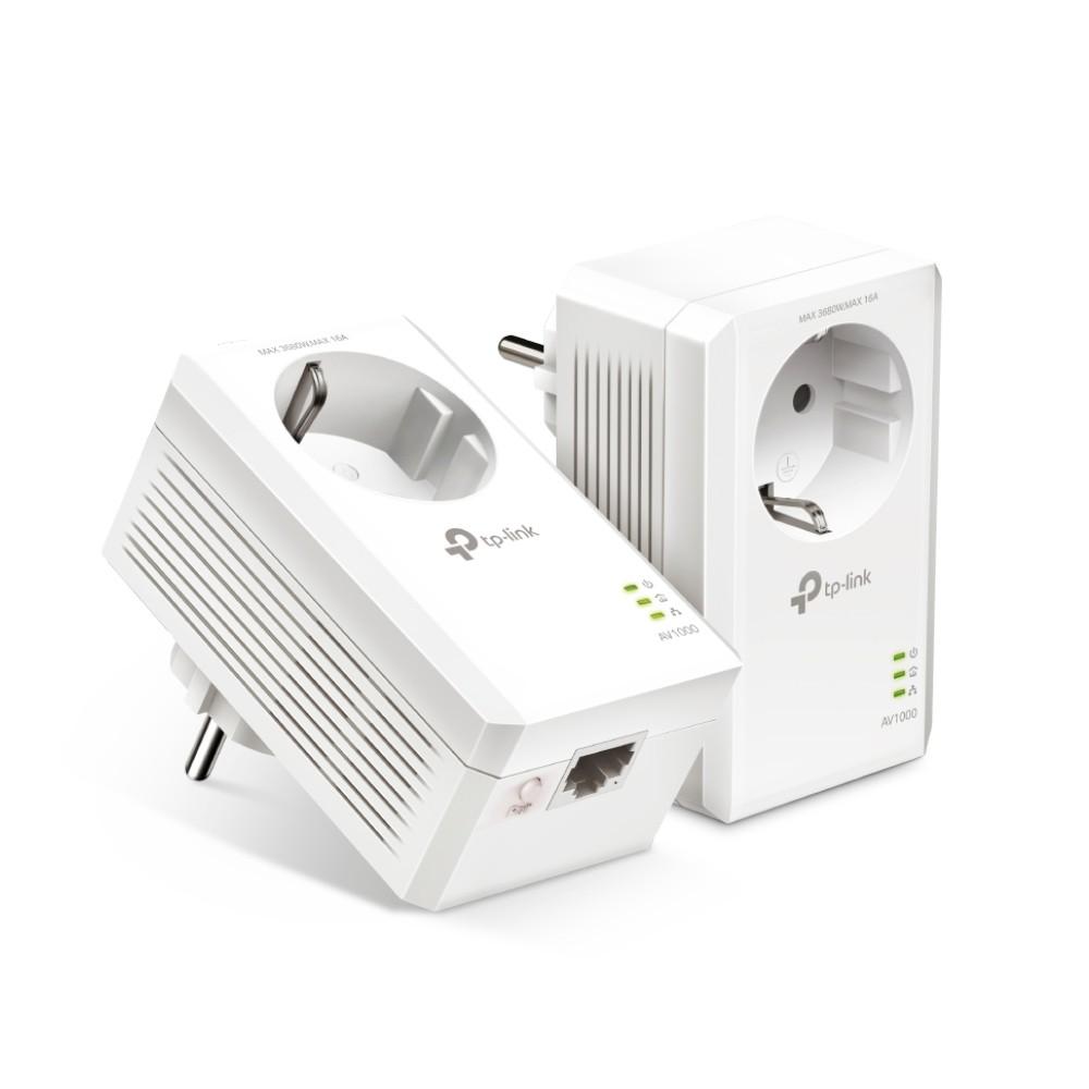 TP-LINK AV1000 Gigabit Passthrough Powerline Starter Kit TL-PA7017P KIT POWERLINE adapteri