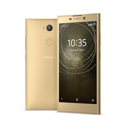 "Sony Xperia L2 H4311 Gold, 5.5 "", IPS LCD, 720 x 1280, Mediatek MT6737T, Internal RAM 3 GB, 32 GB, MicroSD, Dual SIM, Nano-SIM, 3G, 4G, Main Mobilais Telefons"