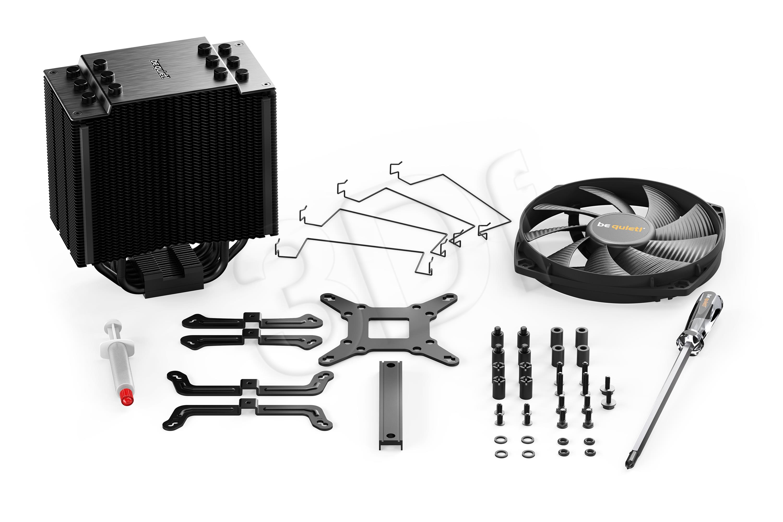 be quiet! CPU cooler Dark Rock 4 1150/1151/1155/1156/1366/2011/AM2/AM3/AM4 procesora dzesētājs, ventilators