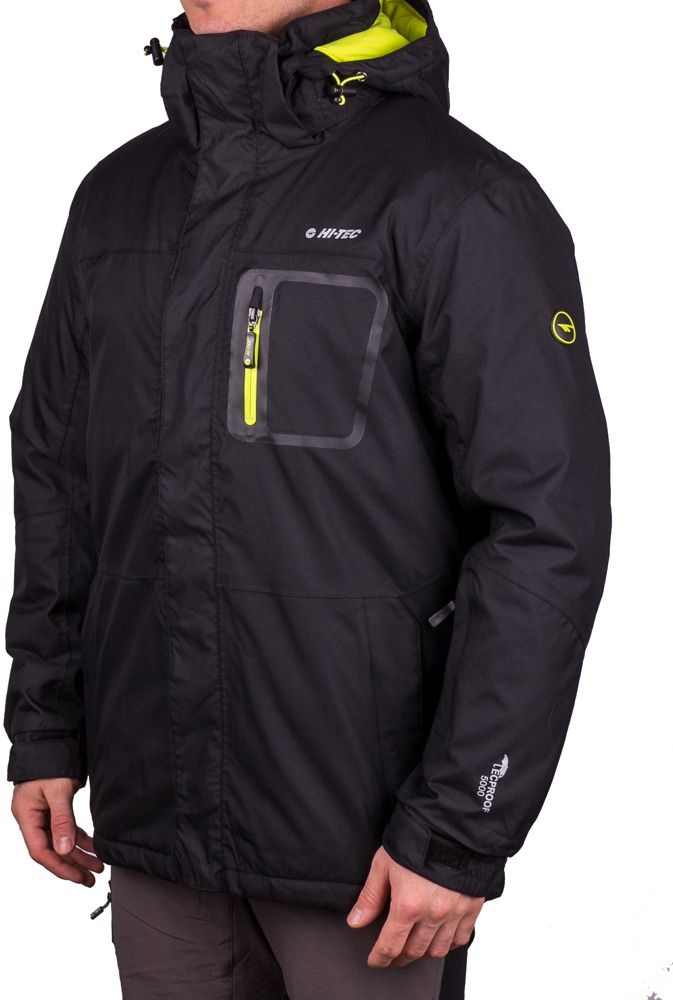 Hi-tec Men's Bicco Black / Yellow Green Jacket M