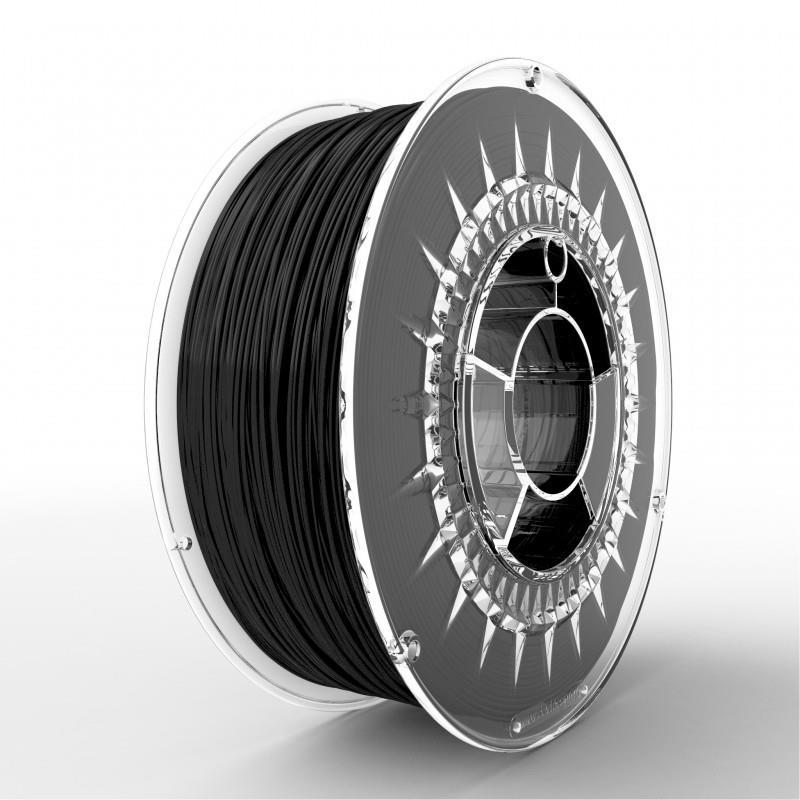 Filament DEVIL DESIGN / ASA / BLACK / 1,75 mm / 1 kg. 3D printēšanas materiāls