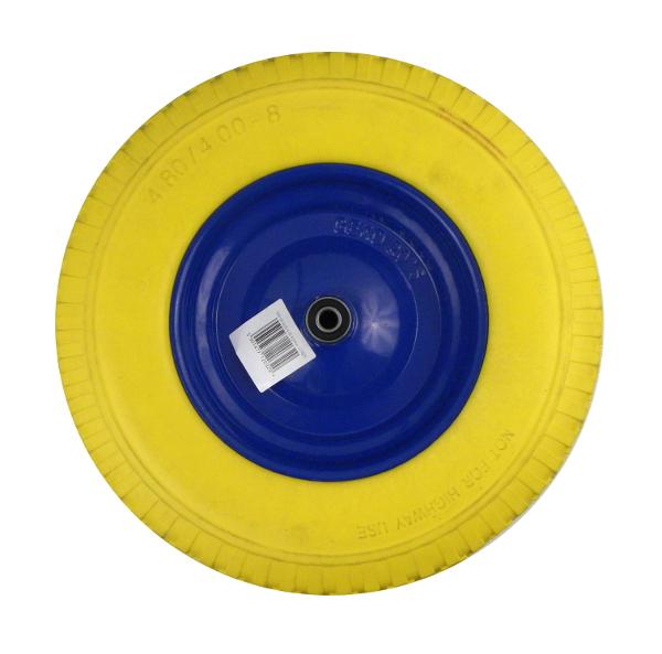 GEKO Wheel for wheelbarrow Flower 4.00-8 full yellow (G71023) Ķerra