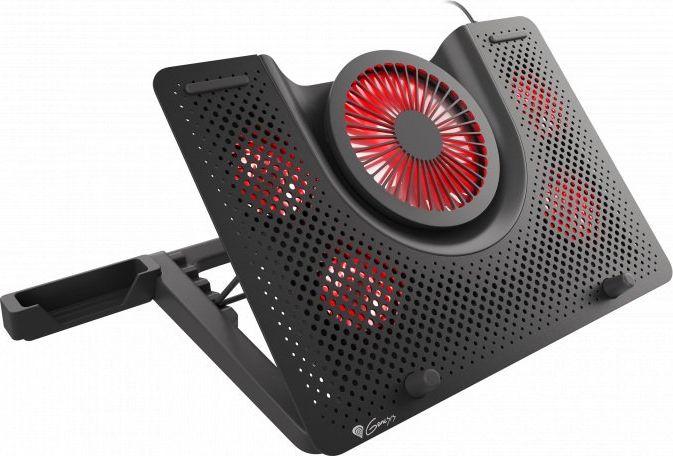GENESIS Laptop cooling pad, OXID 550 15.6-17.3 5 FANS, LED LIGHT, 1 USB portatīvā datora dzesētājs, paliknis