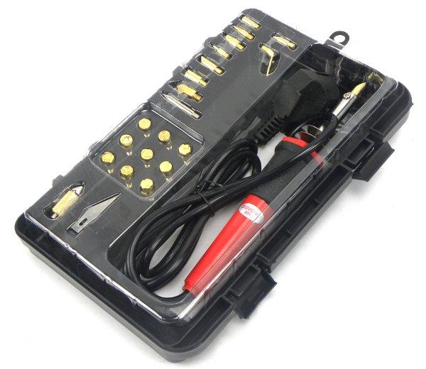 Geko Lodāmurs koka/ādas iededzināšanai 30W, uzgaļi (23gab.) G20050 Elektroinstruments