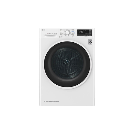LG Dryer Machine RC80U2AV4Q Energy efficiency class A+++, Front loading, 8 kg, Heat pump, LED touch screen, Depth 69 cm, Wi-Fi, White 880609 Veļas žāvētājs