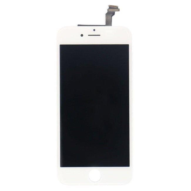 HQ A+ Analogs LCD Skarienjūtīgais Displejs priekš Apple iPhone 6 Plus Pilns modulis Balts aksesuārs mobilajiem telefoniem