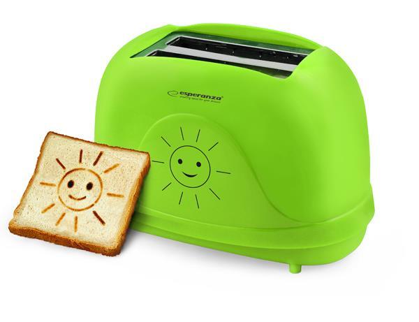 Esperanza EKT003 toaster SMILEY 3 IN 1 - GREEN Tosteris