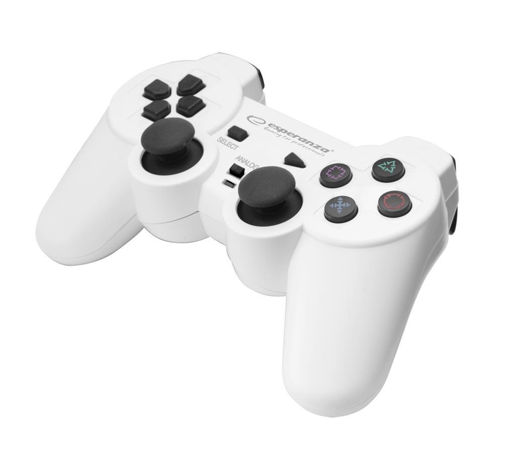 Esperanza TROOPER EGG107W (PC, PS3; white color) spēļu konsoles gampad