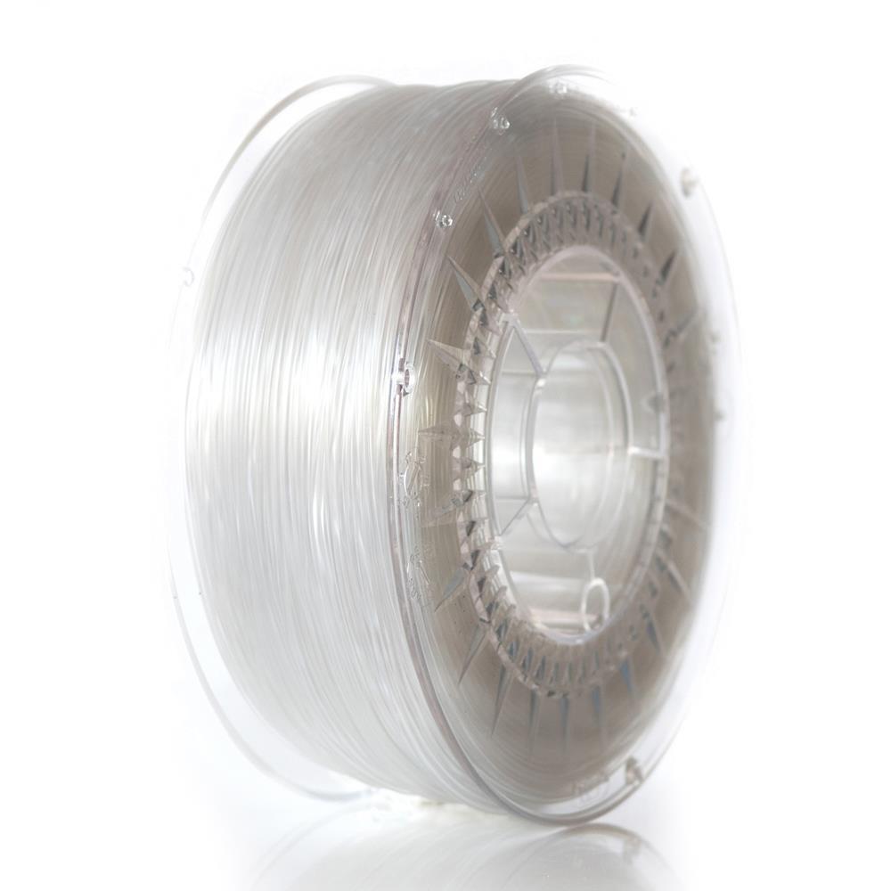Filament DEVIL DESIGN / PETG / TRANSPARENT / 1,75 mm / 1 kg. 3D printēšanas materiāls