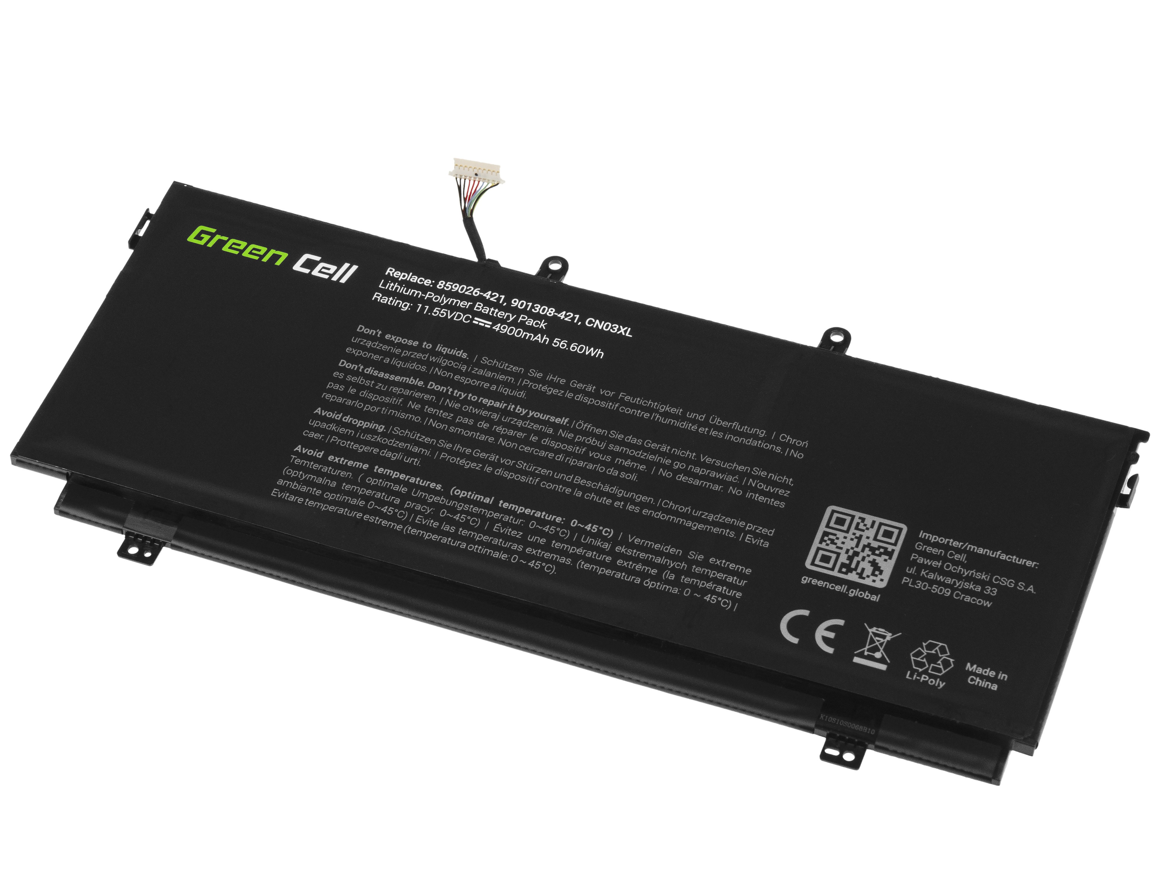 Green Cell Laptop Battery CN03XL HSTNN-LB7L