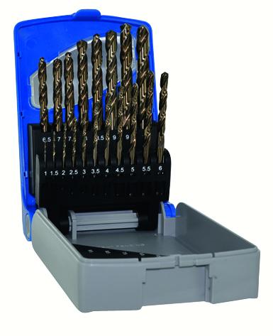 Tivoly urbju komplekts metalam TC HSCOB O1-10 mm, 19 urbji