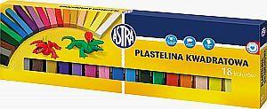 Astra Plastelina 18 kolorow ASTRA, przekroj kwadratowy (83814904) 83814904 materiāli konstruktoriem