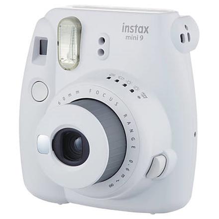 Fujifilm Instax Mini 9 + Instax mini glossy (10) Compact camera, Focus 0.6m - ∞, Smoky White Digitālā kamera