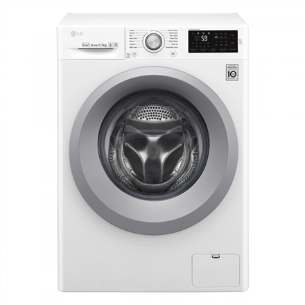 LG Washing mashine F2J5WN4W Front loading, Washing capacity 6.5 kg, 1200 RPM, Direct drive, A+++, Depth 45 cm, Width 60 cm, White, Display, Veļas mašīna