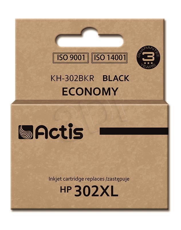ACTIS KH-302BKR (replacement HP 302XL F6U68AE; Premium; 15 ml; black) kārtridžs