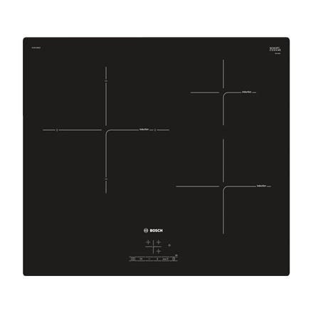 Bosch Hob  PUJ611BB1E Induction, Number of burners/cooking zones 3, Black, Display, Timer plīts virsma