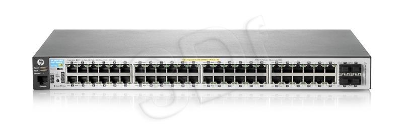Switch HP 2530-48-PoE+ 10/100 48P 2SFP datortīklu aksesuārs