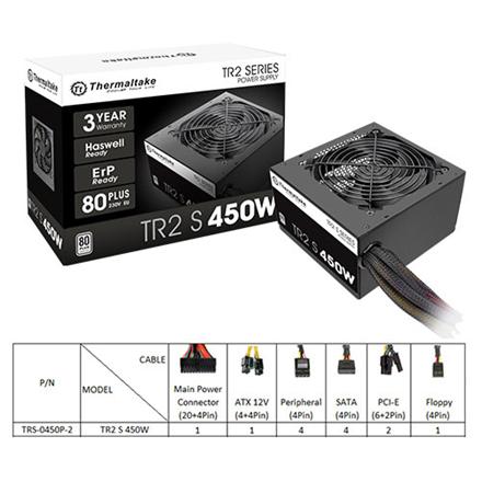 Netzteil Thermaltake TR2 S  450W/80+ White 230V retail Barošanas bloks, PSU