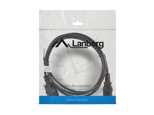 Lanberg extension power cable C13-> C14 1.8m Barošanas kabelis