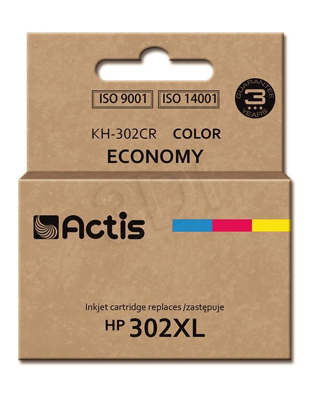 ACTIS KH-302CR (replacement HP 302XL F6U67AE; Premium; 21 ml; MultiColor) kārtridžs
