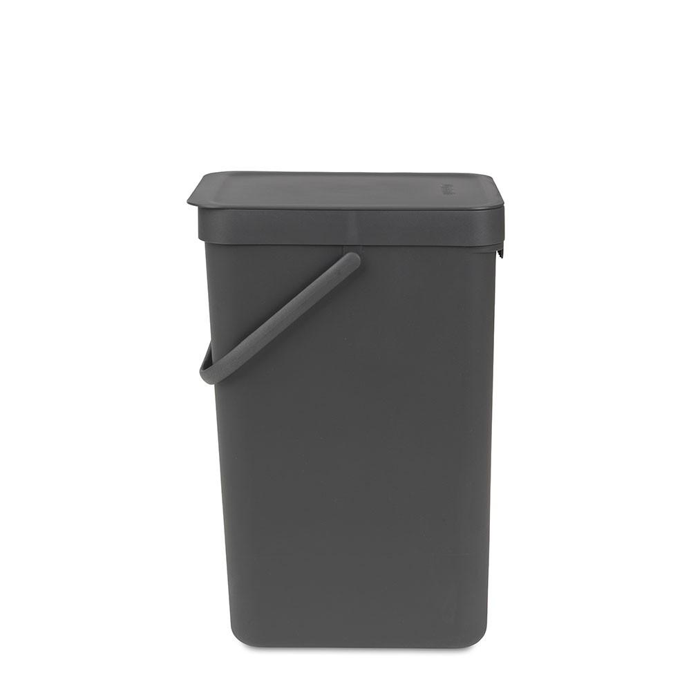 BRABANTIA atkritumu tvertne Sort & Go, 16 l, grey 109966 atkritumu tvertne