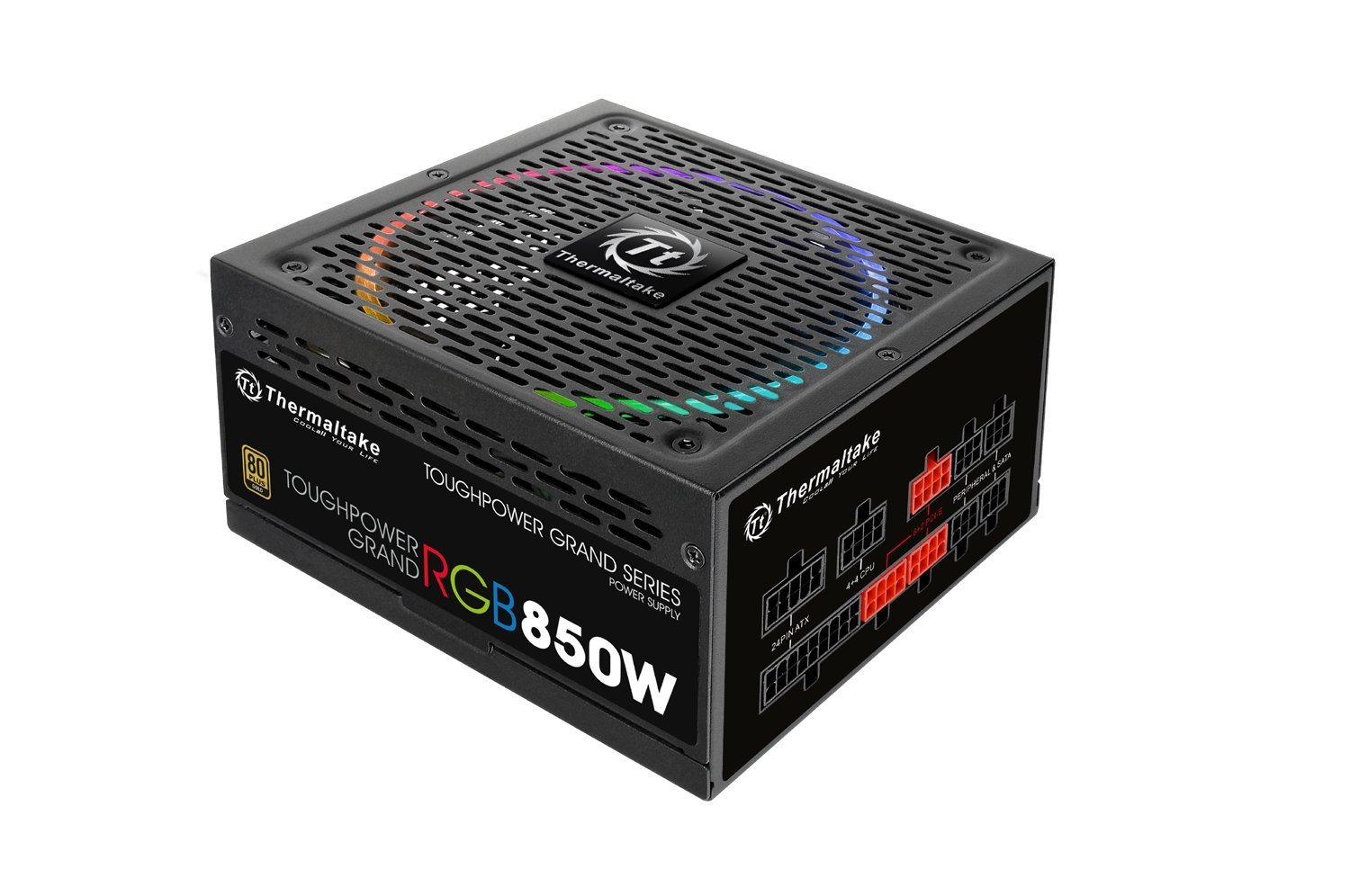 Thermaltake Power Supply 850 W Toughpower Grand RGB 80Plus Gold Barošanas bloks, PSU