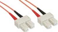 InLine Patchcord swiatlowodowy SC/SC, 50/125µm,  OM2 7.5m (83575) tīkla kabelis