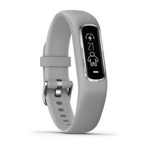 Garmin Vivosmart 4, E EU, Gray/Silver, S/M Viedais pulkstenis, smartwatch