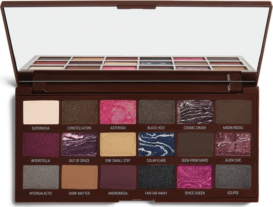 Makeup Revolution Eye Shadow Palette I Heart Revolution Chocolate Galactic ēnas