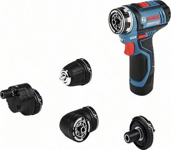 Bosch GSR 12V-35 FC Professional, 12V(blue / black, 2x Li-ion battery 3.0Ah, with FlexiClick essays, L-BOXX)