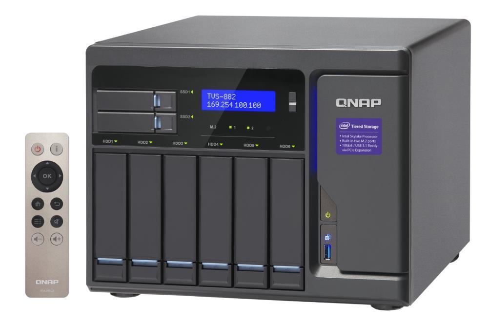 TVS-882-i3-8G 6x0HDD 2x 0HDD 2.5 3.7GHz 2xM.2