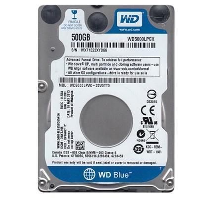 WD Blue WD5000LPCX 2.5'' 500GB SATA3 5400RPM 16MB BULK cietais disks