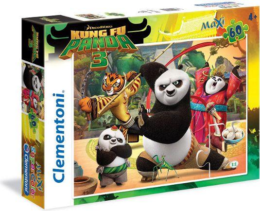 CLEMENTONI 60 EL. MAXI K ung Fu Panda puzle, puzzle