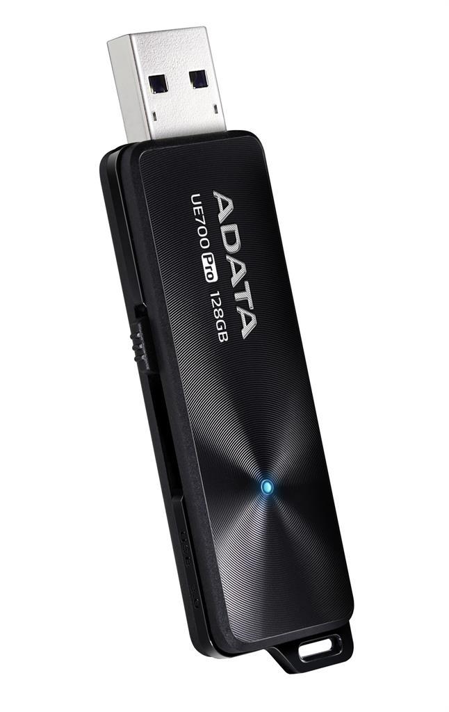 Adata USB 3.1 Flash Drive UE700 Pro 128GB, R/W 360/180 MB/s BLACK USB Flash atmiņa