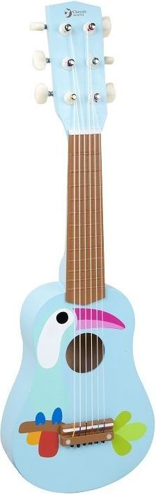 ClassicWorld Gitara drewniana z tukanem CL4027