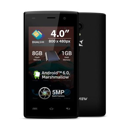 Allview A5 Ready Black, 4 , TFT LCD, 480 x 800, Cortex-A7, Internal RAM 1 GB, 8 GB, Dual SIM Mobilais Telefons