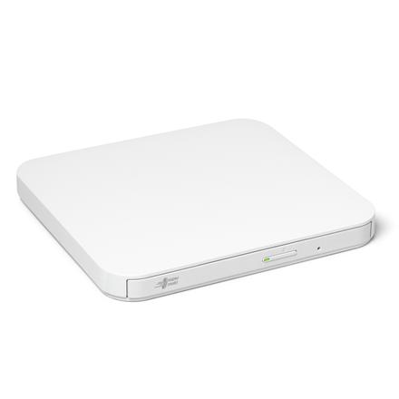 H.L Data Storage Ultra Slim Portable DVD-Writer GP90NW70 Interface USB 2.0, DVD±R/RW, CD read speed 24 x, CD write speed 24 x, White, Deskto diskdzinis, optiskā iekārta