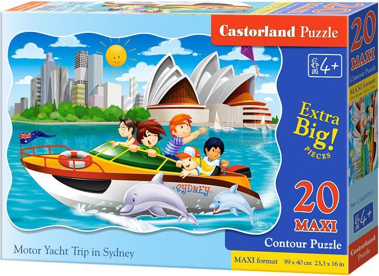 Castorland 20 pieces Maxi, Sydney Motorboat Trip puzle, puzzle