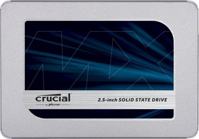 Crucial MX500 250 GB, SSD interface SATA, Write speed 510 MB/s, Read speed 560 MB/s SSD disks