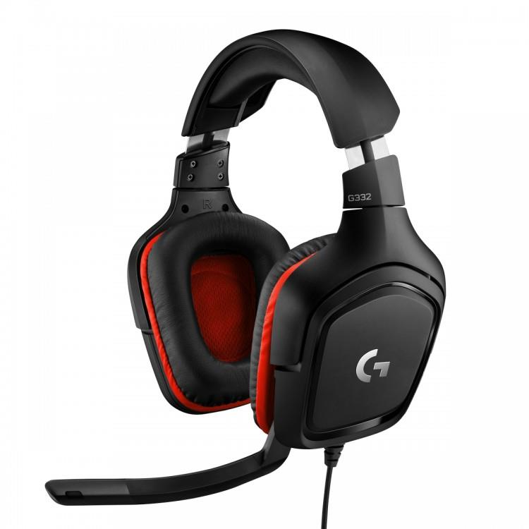 Logitech Gaming Headset G332 Symmetra - Black/Red - 3.5 MM, Leatherette austiņas
