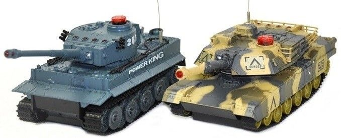 The set of tanks fighting each other - German Tiger vs Abrams RTR 1:24 UF/508-10