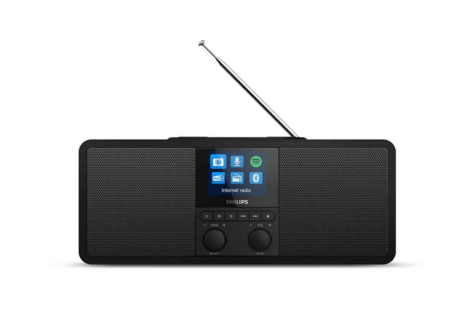 Philips Internet radio TAR8805/10 Spotify Connect, DAB+ radio, DAB and FM Bluetooth, 6W, wireless Qi charging, color display, built-in clock akustiskā sistēma
